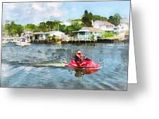 Sports - Man On Jet Ski Greeting Card