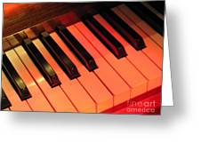 Spotlight On Piano Greeting Card