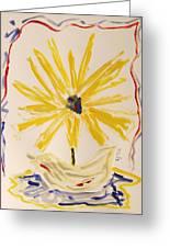 Spotlight On Yellow Greeting Card by Mary Carol Williams