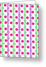 Spotty Stripe Greeting Card
