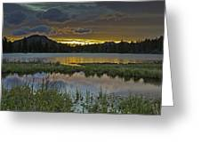 Sprague Lake Sunrise Greeting Card by Tom Wilbert
