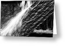 Sprays Of Water On Angled Rock Greeting Card