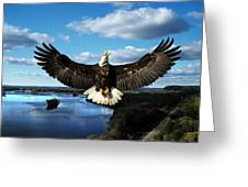 Spread Eagle  Mississippi River Greeting Card