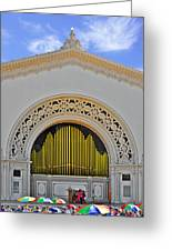 Spreckles Organ San Diego Greeting Card