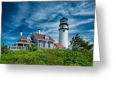 Spring At Cape Cod Light Greeting Card