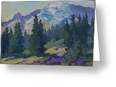 Spring At Mount Rainier Greeting Card