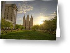 Spring At Temple Square Greeting Card