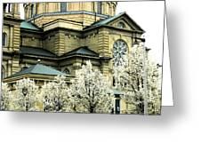 Spring At The Basilica Greeting Card