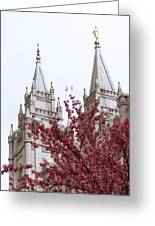 Spring At The Temple Greeting Card