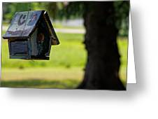 Spring Birdhouse Greeting Card
