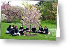 Spring Blossom In Kew Gardens London Greeting Card