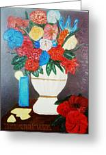 Spring Bouquet In A Vase Greeting Card