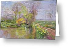 Spring Bridge Greeting Card