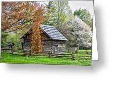 Spring Cabin I - Blue Ridge Parkway Greeting Card by Dan Carmichael