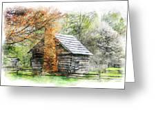 Spring Cabin II - Blue Ridge Parkway Greeting Card by Dan Carmichael