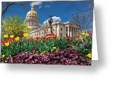 Spring Comes To Wv Capitol Greeting Card