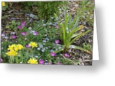 Spring Cottage Garden Greeting Card