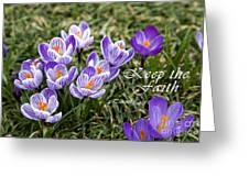 Spring Crocus With Scripture Greeting Card