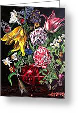 Spring Flower Bouquet Greeting Card