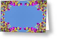 Spring Flower Frame Greeting Card