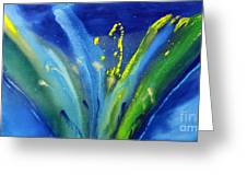 Spring Flower In Blue Greeting Card