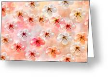 Spring Flowers Abstract 5 Greeting Card