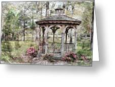 Spring Gazebo Painteffect Greeting Card