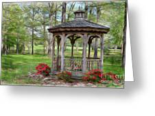 Spring Gazebo Pastel Effect Greeting Card
