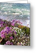 Spring Greets Waves Greeting Card