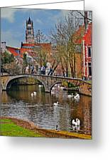 Spring In Bruges Greeting Card