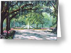 Spring In Forsythe Park Greeting Card