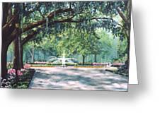 Spring In Forsythe Park Greeting Card
