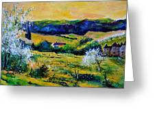 Spring In Matagne  Greeting Card