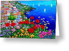 Spring In Positano Greeting Card