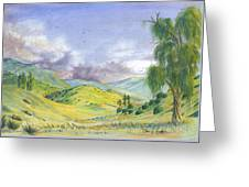 Spring In The Corona Hills Greeting Card