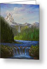 Spring In The Rockies Greeting Card by C Steele