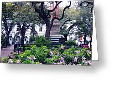 Spring In The Square Greeting Card