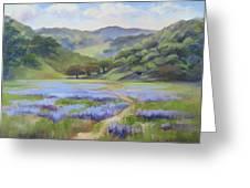 Spring Lupine Greeting Card