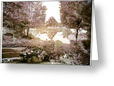 Spring Magical Fairyland Lake Greeting Card