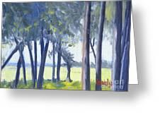 Spring Marsh From Deerfield Road Greeting Card