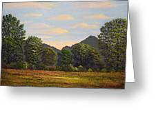 Spring Meadow At Sutter Buttes Greeting Card