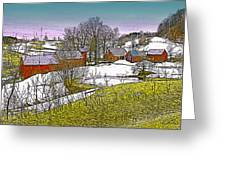 Spring Melt At Jenne Farm Greeting Card