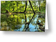 Spring Mill Reflections Greeting Card