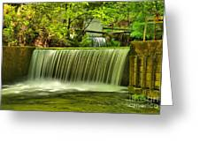 Spring Mill Spillway Greeting Card