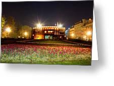 Spring Night In Belgrade Greeting Card