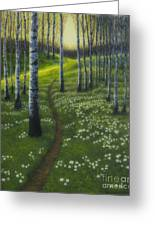 Spring Path Greeting Card