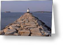 Spring Point Ledge Lighthouse Greeting Card