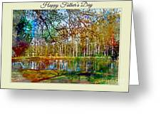 Spring Pond Photoart Father's Day Greeting Card