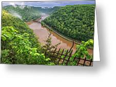 Spring Rains Comes To The New River Greeting Card