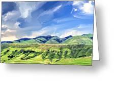 Spring Rains Near San Luis Obispo Greeting Card